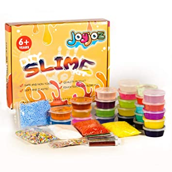 DIY Slime Kit Schleim Selber Machen with 24 Colors Crystal Clear Slime
