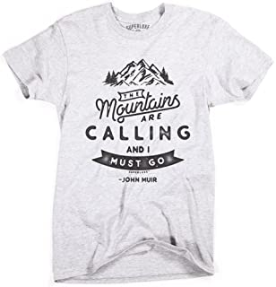 The Mountains are Calling and I Must Go Boys Cotton Long Sleeve Tshirt