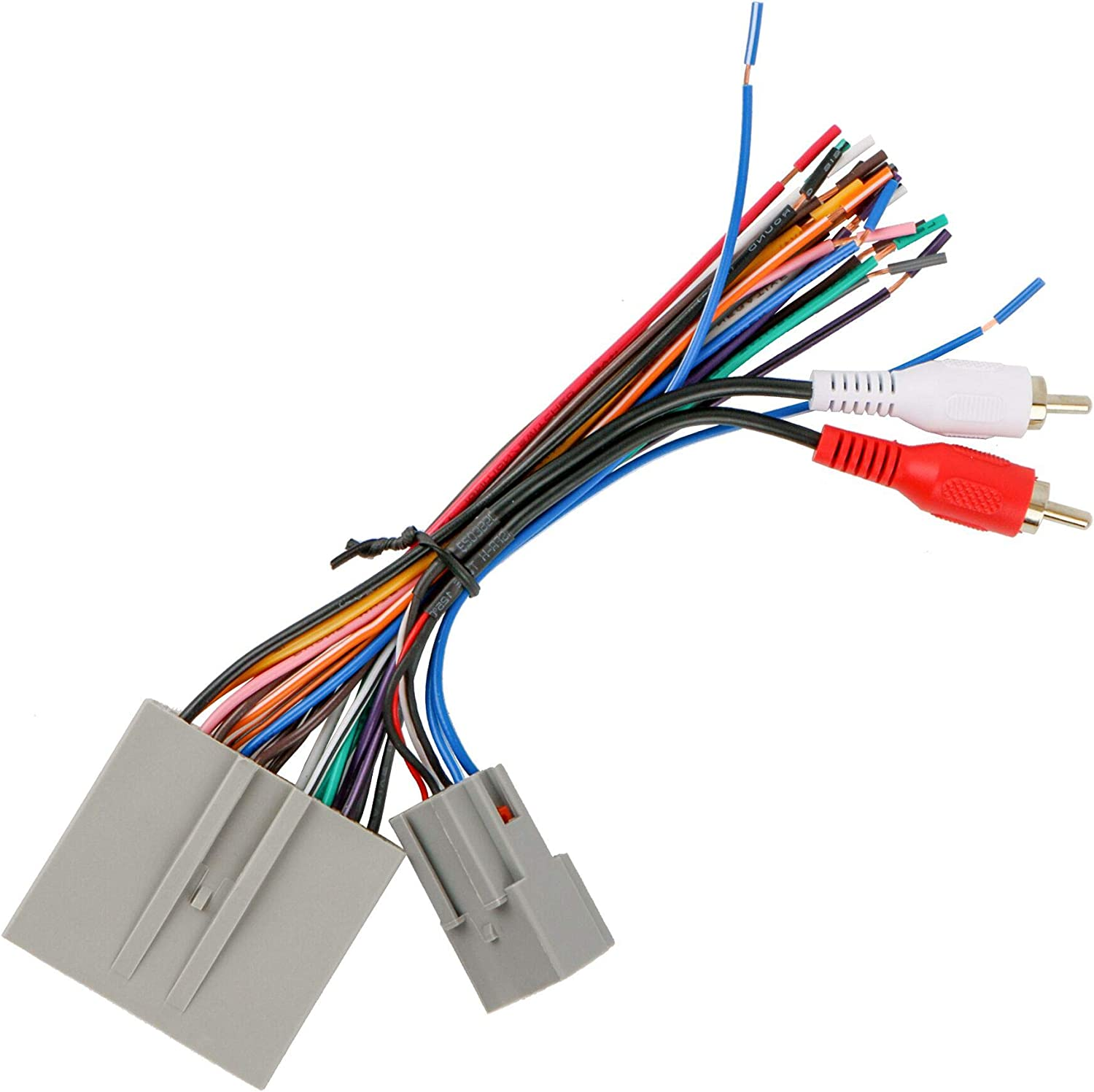 RDBS Car Aftermarket Stereo Wire Harness Power//Speaker and RCA to Sub Amp Input Connectors Fit for 2003-2008 Ford Vehicle