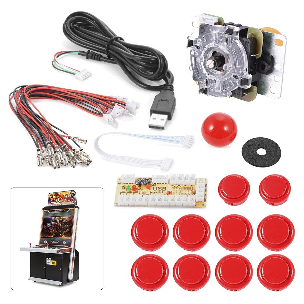 Xcsource Zero Delay Arcade Game Usb Encoder Pc Joystick Cherry Master Machine Wiring Diagram Diy Kit For Mame Jamma Other Fighting Games Red Ac488 Toys