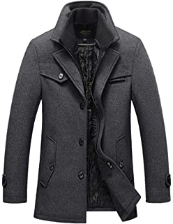 Homme Trench Caban Coat Hiver Laine Chaud xreQdCBoW