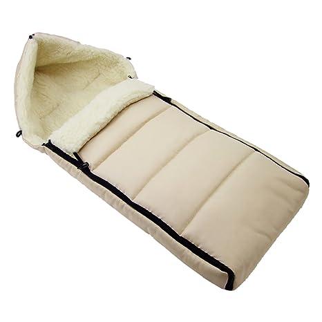 Los bebés-Dreams saco de abrigo de invierno Beige LININERT 108 cm para carrito o silla de lana de cordero saco de lana de cordero de Tarantino con ...