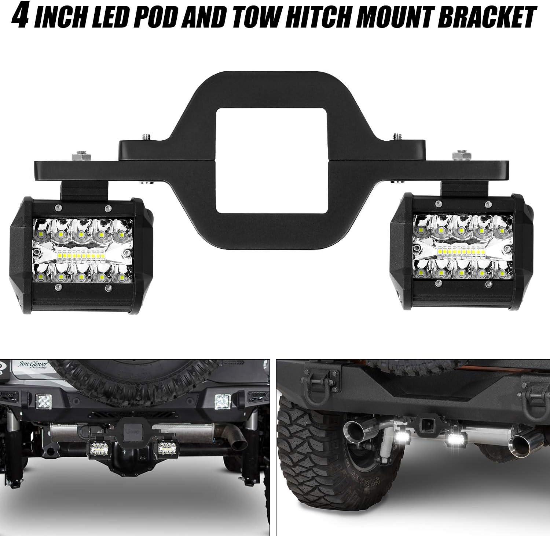Feux de Route 2PCS pour Camionnette Jeep SUV ATV UTV Phare /à LED Faisceau Combin/é Spot Dinondation 60W avec Feu de Circulation Diurne AAIWA Phare de Travail Ronde /à LED