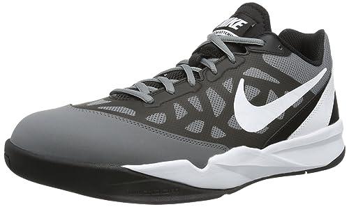 Shoe Zoom Attero Greywhiteblack Nike Men's 5 Basketball Cool Ii 10 3L5RA4j