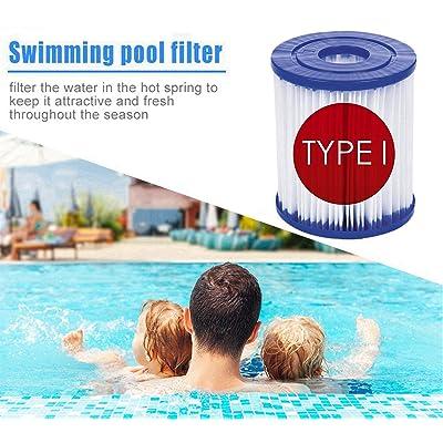 2pcs Easy Install Clean Filter Cartridge Type I Swimming Pool Pump PET Type I