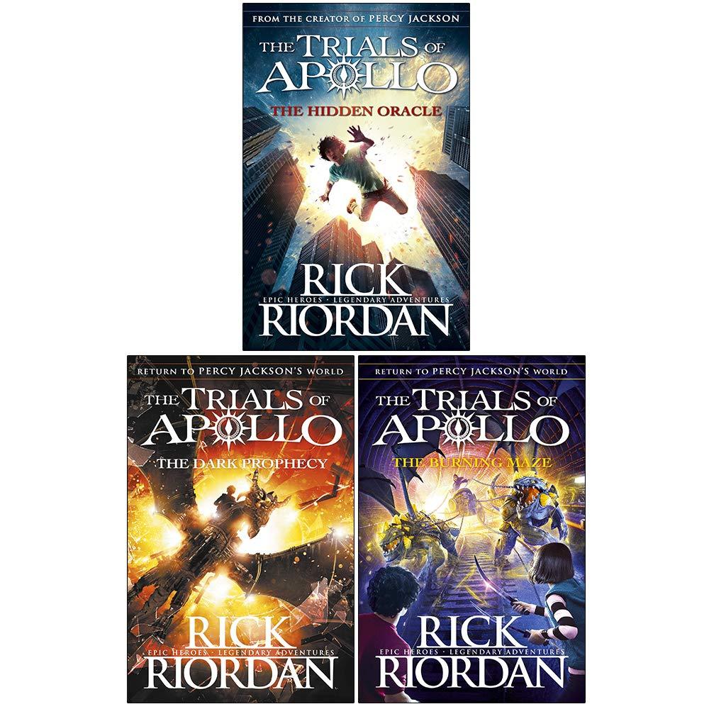 Rick riordan trials of apollo collection 3 books set dark