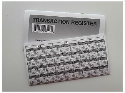 amazon com 22 checkbook transaction registers 2018 20 calendar