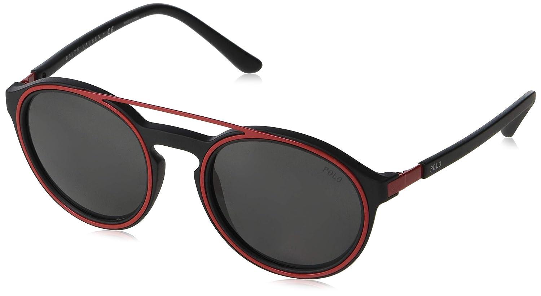 25557a795 Amazon.com: Polo Ralph Lauren Men's 0ph4139 Round Sunglasses matte black  51.0 mm: Clothing