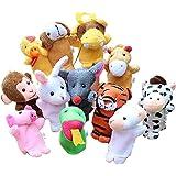 ゴシレ [Gosear] 12個可愛いかわいい中国の干支指人形ミニぬいぐるみ漫画動物玩具人形赤ちゃん子供子供教育玩具