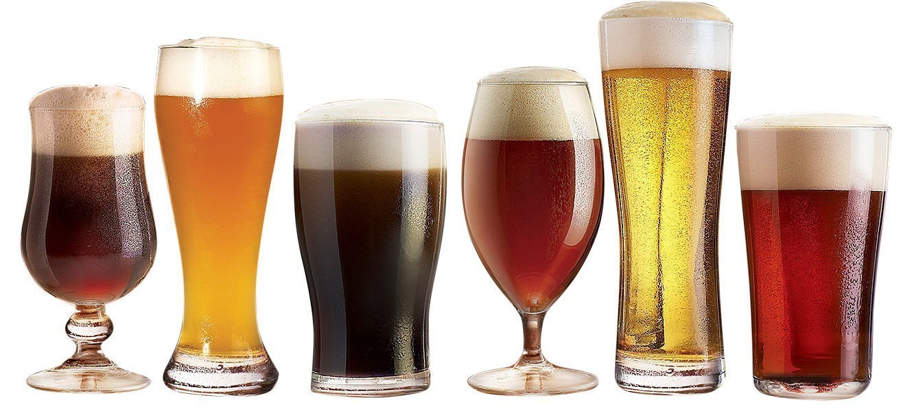 Luminarc N2561 Assorted Craft Brew Tabletop Beer Glass, Clear