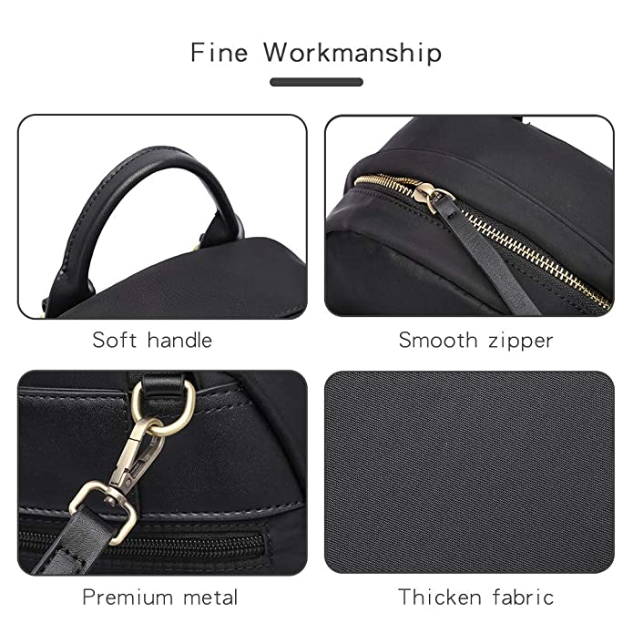 HaloVa Womens Backpack Multifunction Daypack Satchel Crossbody Bag for Girls Lady Mini Shoulders Bag Black