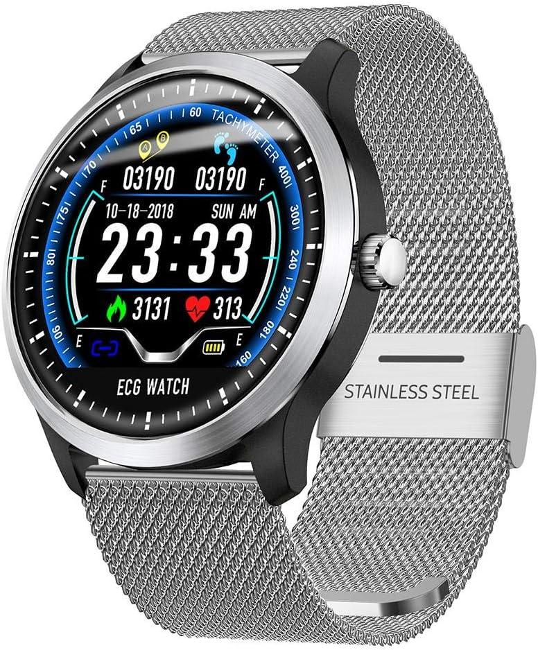 diuspeed Sport Smart Watch, N58ECG Sport Reloj IP67Smart Pulsera con + electrocardiogramas PPG electrocardiogramas HRV de informe de frecuencia cardíaca Tensiómetro de prueba