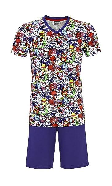 Pijama hombre de verano Ringuella v95% algodón, estampado cómic (48)