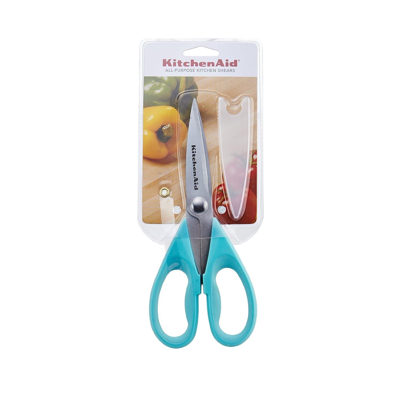 Amazon.com: KitchenAid Shears with Soft Grip Handles, Aqua Sky ...