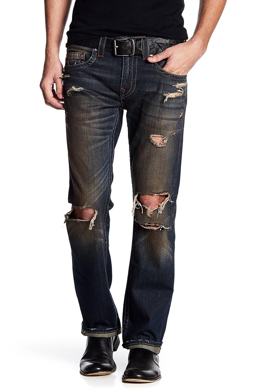 42143d011 Top2  True Religion Men s Distressed Straight Runstitch Jeans