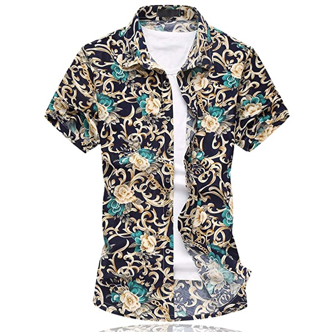26f45ec4773 para Hombre Hawaiian Floral Manga Corta Camisas - Vacaciones de natación  Tops con Forro de Malla, Hombre, Color 663grey, tamaño: Amazon.es: Ropa y  ...