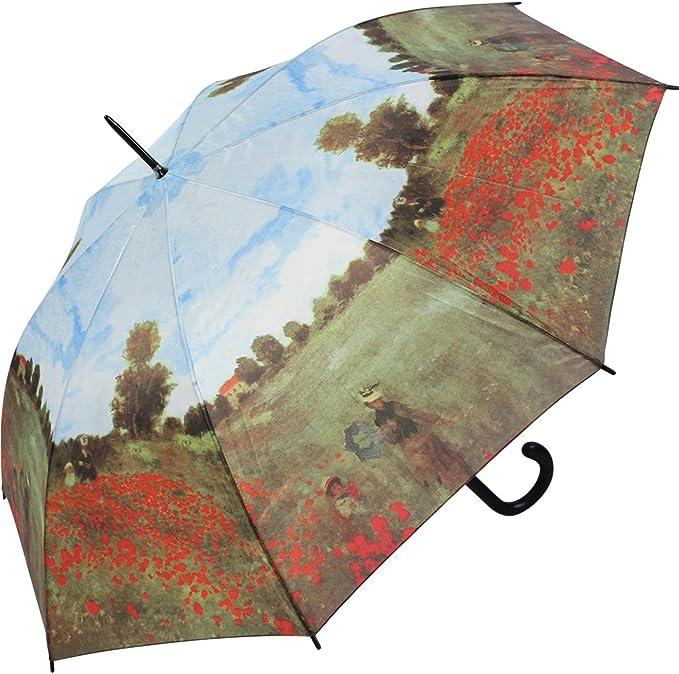 Regenschirm Motiv Claude Monet Mohnfeld Bei Argenteuil Stockschirm Automatik Amazon De Bekleidung