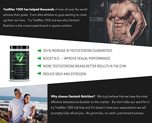 TestMax 1000 | Extreme Testosterone Booster - Male Libido and Performance  Enhancer | Increase