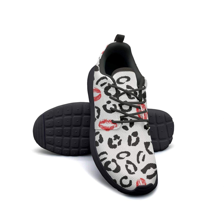Orange Leopard Camo Sneaker Shoes for Women Fashion Skid-Proof Run Shoes
