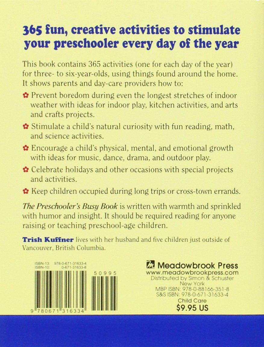 preschooler u0027s busy book 365 creative games u0026 activities to occupy