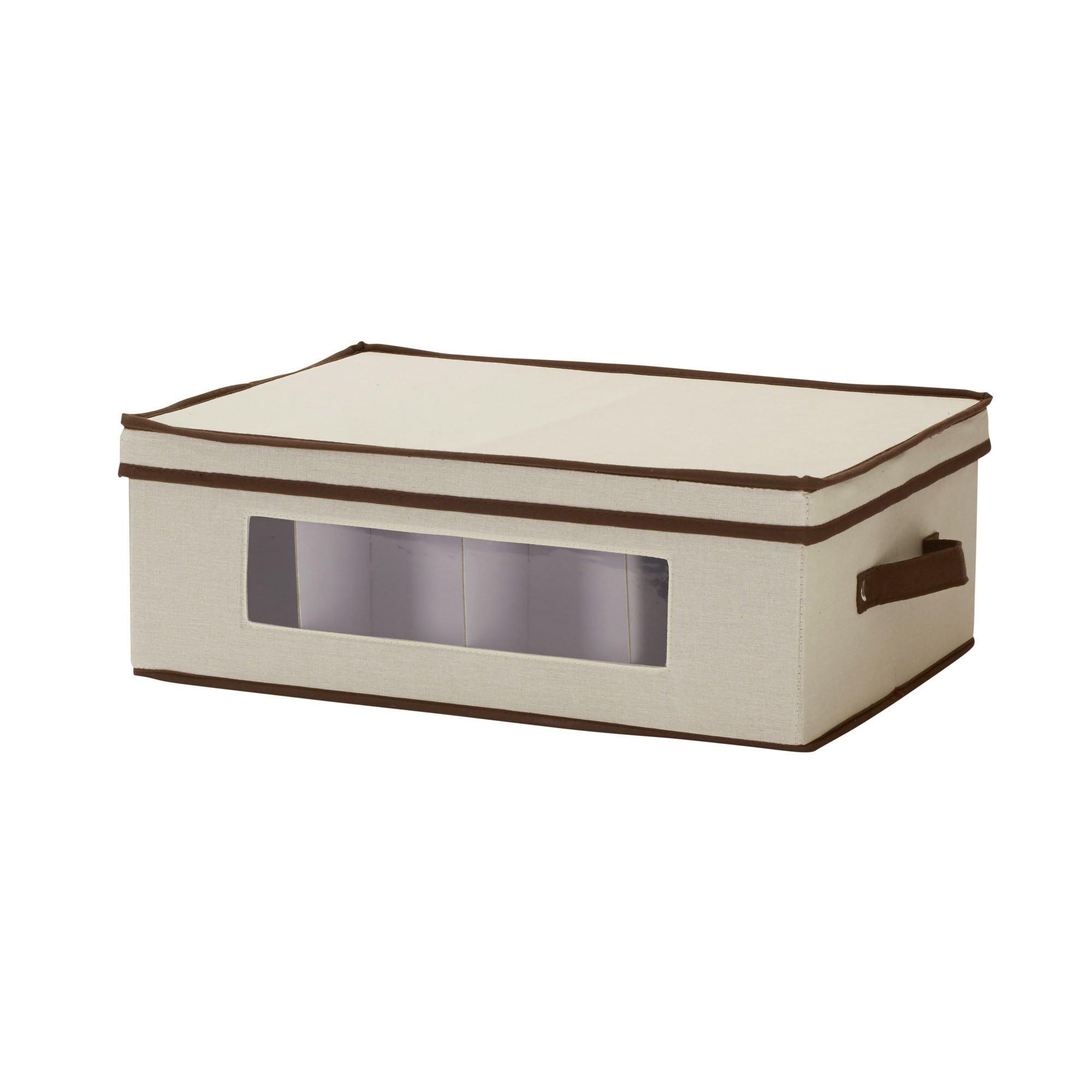Household Essentials 531 Mug and Tumbler Vision China Storage Box Chest Natural