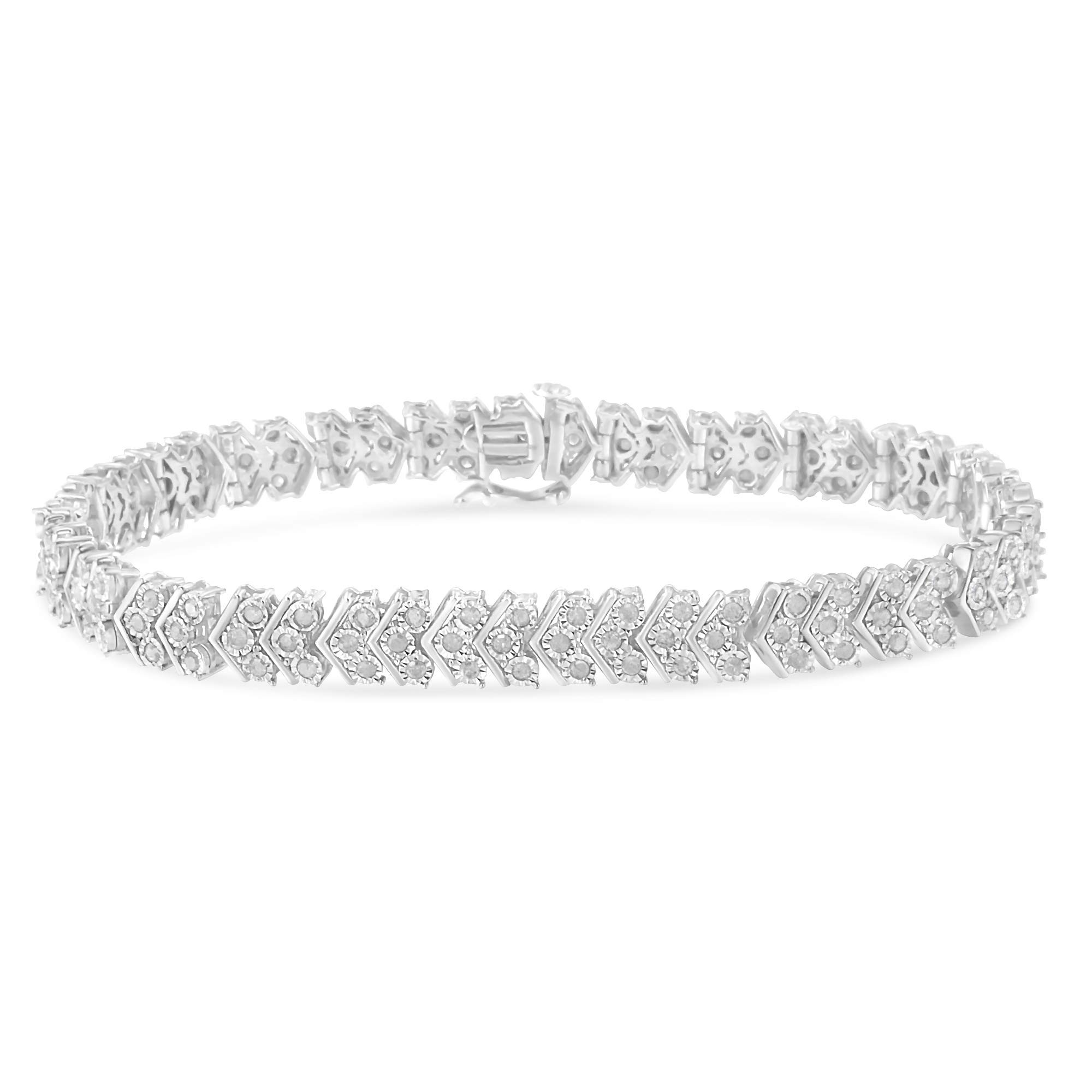 Sterling Silver Diamond Tennis Bracelet (2.15 cttw, I-J Color, I3-Promo Clarity) by Original Classics