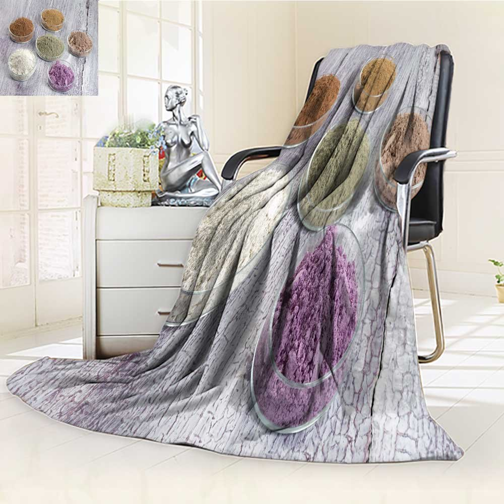 SCOCICI1588 Luminous Microfiber Throw Blanket cosmetic clay yellow purple pink red white green for spa and body care Glow In The Dark Constellation Blanket, Soft And Durable Polyester(60''x 50'')