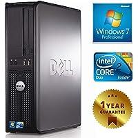 PC COMPUTER DESKTOP FISSO CON WINDOWS 7 PRO INSTALLATO [LICENZA COA SERIALE ETICHETTA] DELL OPTIPLEX GX780 SFF INTEL DUAL CORE RAM 4GB HARD DISK 250GB [RICONDIZIONATO GARANTITO]