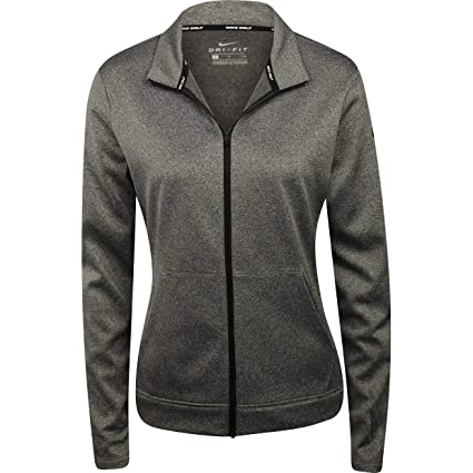 e38b11130574 NIKE Therma Fit Full Zip Fleece Golf Jacket 2017 Women Black Heather Black  Large