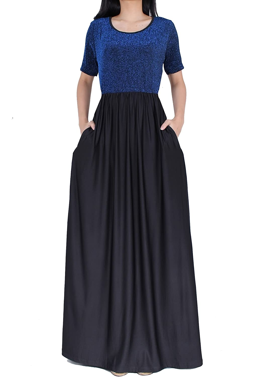 Women Plus Size Sleeve Flowy Bridesmaid Cocktail Evening Gown Formal Long  Maxi Dress at Amazon Women s Clothing store  e33f14098