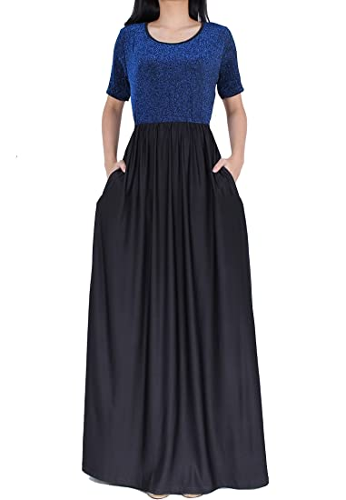 Women Plus Size Sleeve Flowy Bridesmaid Cocktail Evening Gown Formal