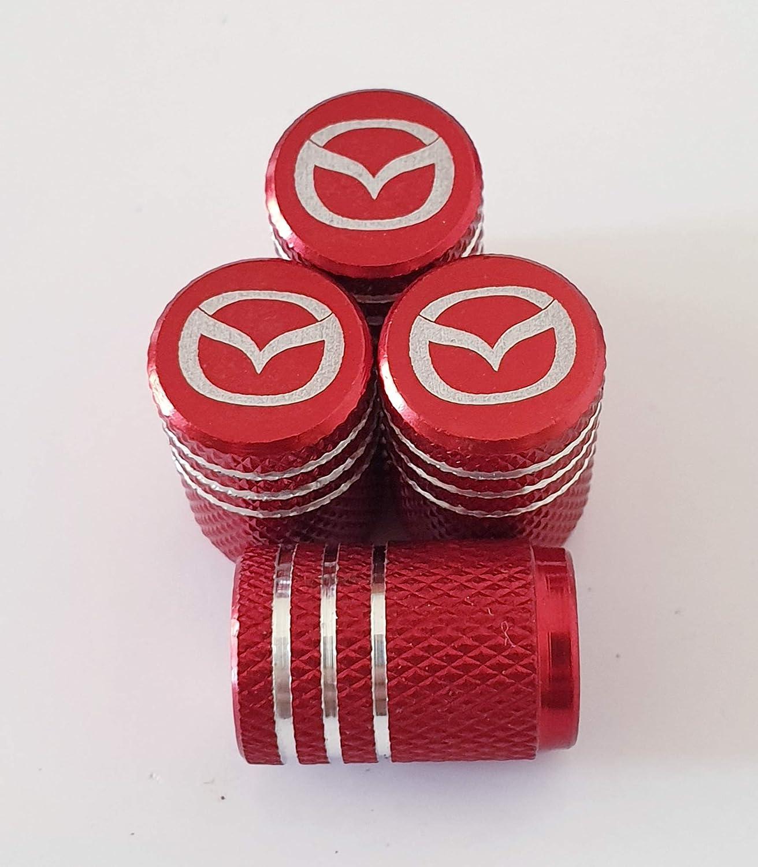 Speed Demons Mazda Tapones Antipolvo para v/álvulas Grabados con l/áser Rojo para Todos los Modelos