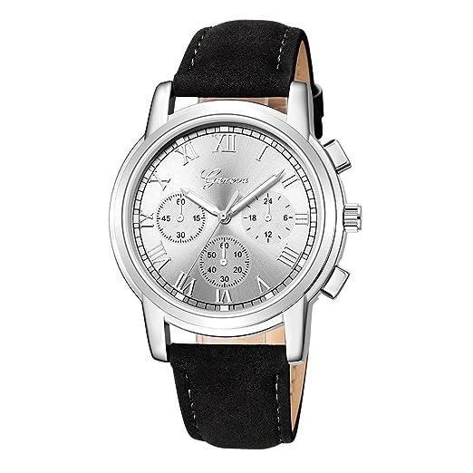 Kinlene Reloj De Las Mujeres,Deporte de lujo acero inoxidable cuarzo militar reloj de muñeca de banda de cuero de Dial (A): Amazon.es: Relojes