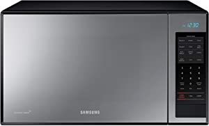 Samsung MG14H3020CM 1.4 cu. ft. Countertop Grill Microwave Oven with Ceramic Enamel Interior Black Mirror Finish (Renewed)
