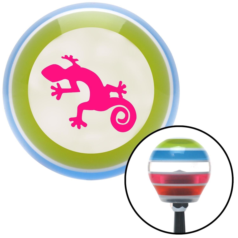 American Shifter 132427 Stripe Shift Knob with M16 x 1.5 Insert Pink Gecko