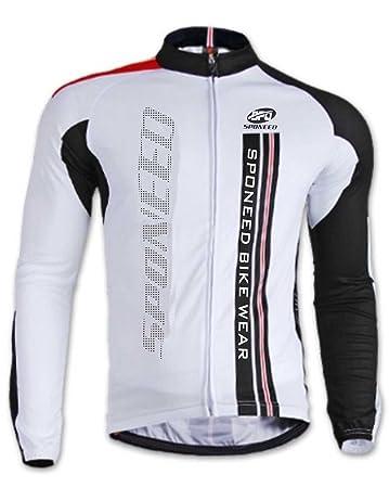 Amazon.com: sponeed Hombre Ciclista Jersey Manga Larga ...