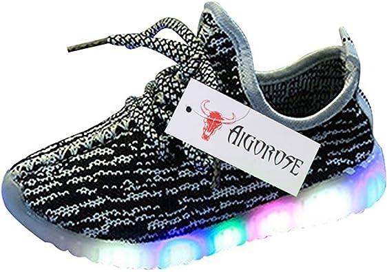 dopeme 2017 niños niños niñas Fashion con luz LED Luminoso Zapatillas Niños Zapatillas de Running (21 – 30): Amazon.es: Zapatos y complementos