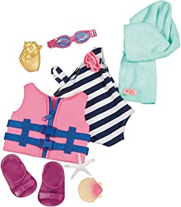 """Bathing Suit with Life Vest Outfit for 18"""" Dolls - Our Generation"""