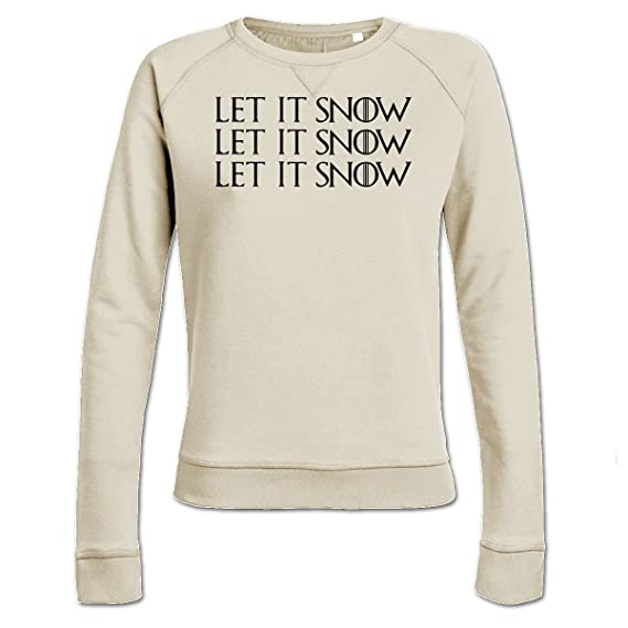 Sudadera de mujer Let It Snow Let It Snow Let It Snow by Shirtcity: Amazon.es: Ropa y accesorios