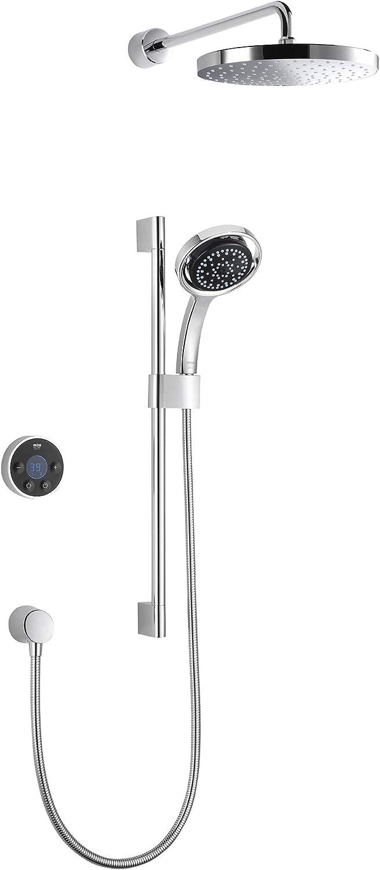 Mira Platinum Dual Digital Shower Rear Fed High Pressure/Combi Boiler 1.1796.003 - Black/Chrome