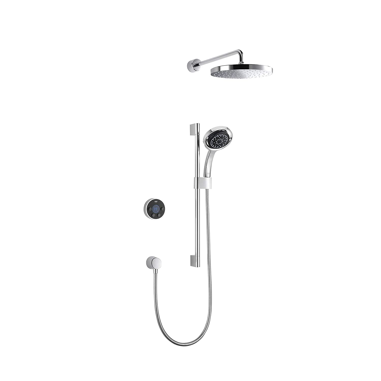 Mira Digital Shower >> Mira Showers 1 1796 003 Platinum Dual Digital Mixer Shower With Rear Fed And High Pressure Combi Boiler Black Chrome