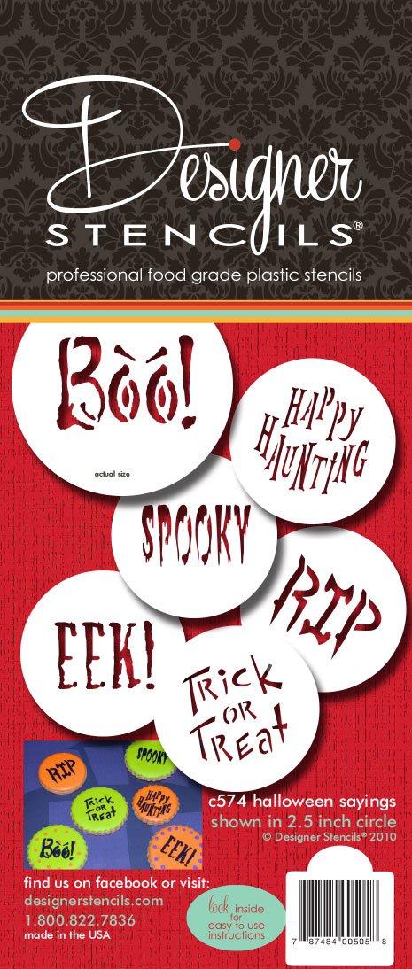 Designer Stencils C574 Small Halloween Cookie Stencil Sayings, Beige/semi-transparent by Designer Stencils (Image #3)