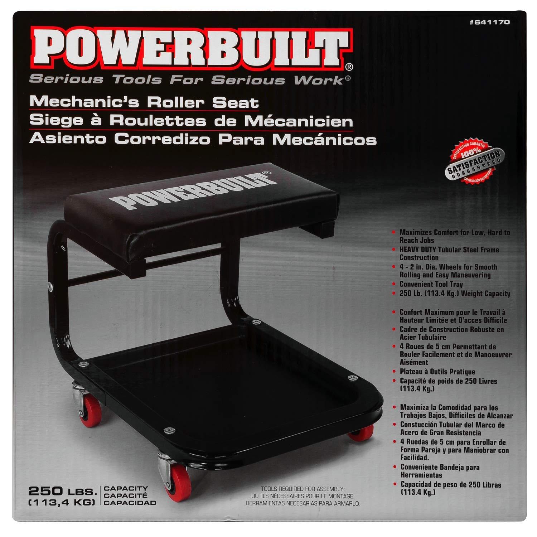 Amazon.com: Powerbuilt Rolling Mechanics, Shop, Heavy Duty Seat - 641170: Automotive