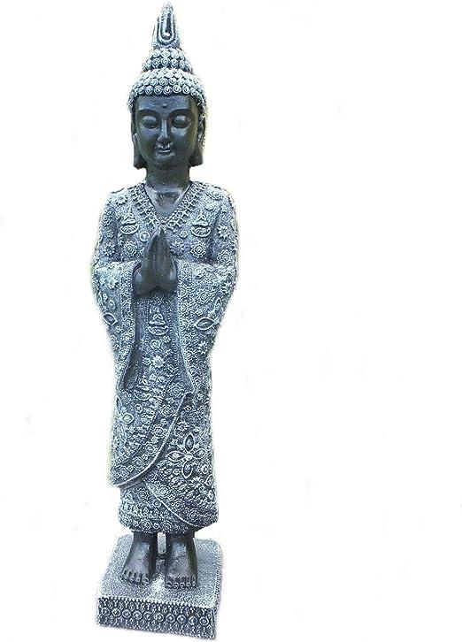 steinfiguren-neumann Figura de Buda de pie para jardín (55 cm ...