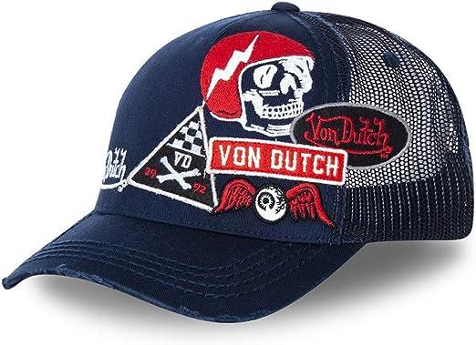 Von Dutch - Gorra, Color Azul Marino y Rojo Murph – Unisex Azul ...