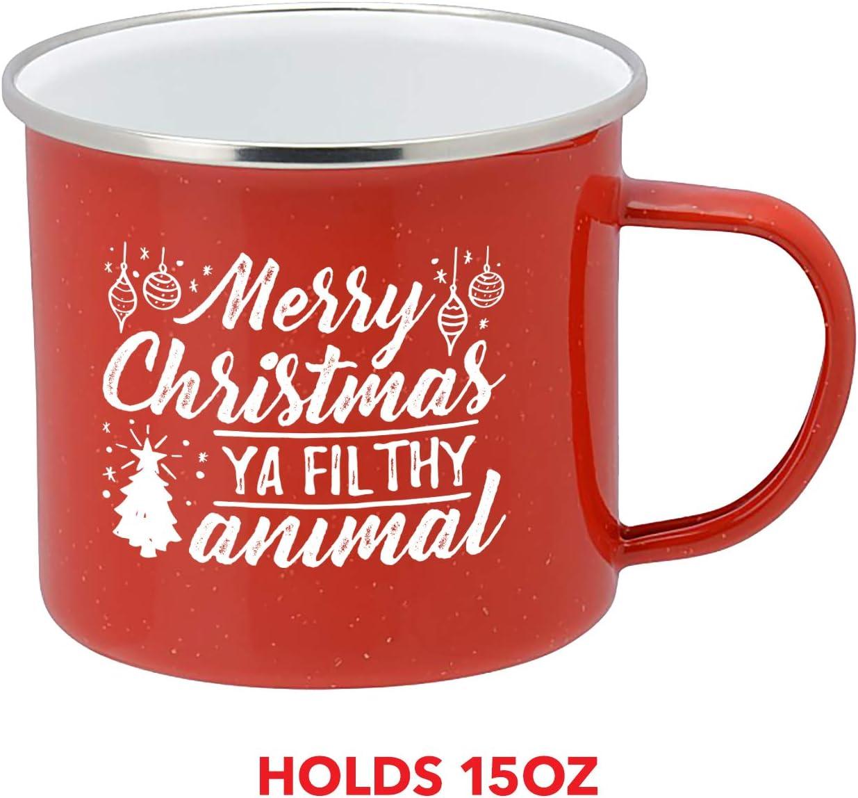 novelty cup Christmas gift MERRY CHRISTMAS YA FILTHY ANIMAL coffee mug