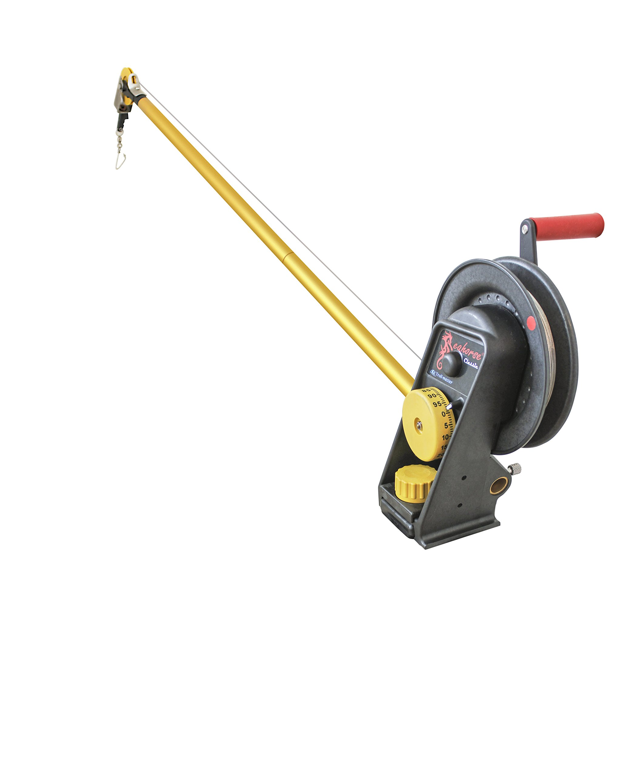 Seahorse Manual Downrigger with extended boom By Troll-master by Seahorse