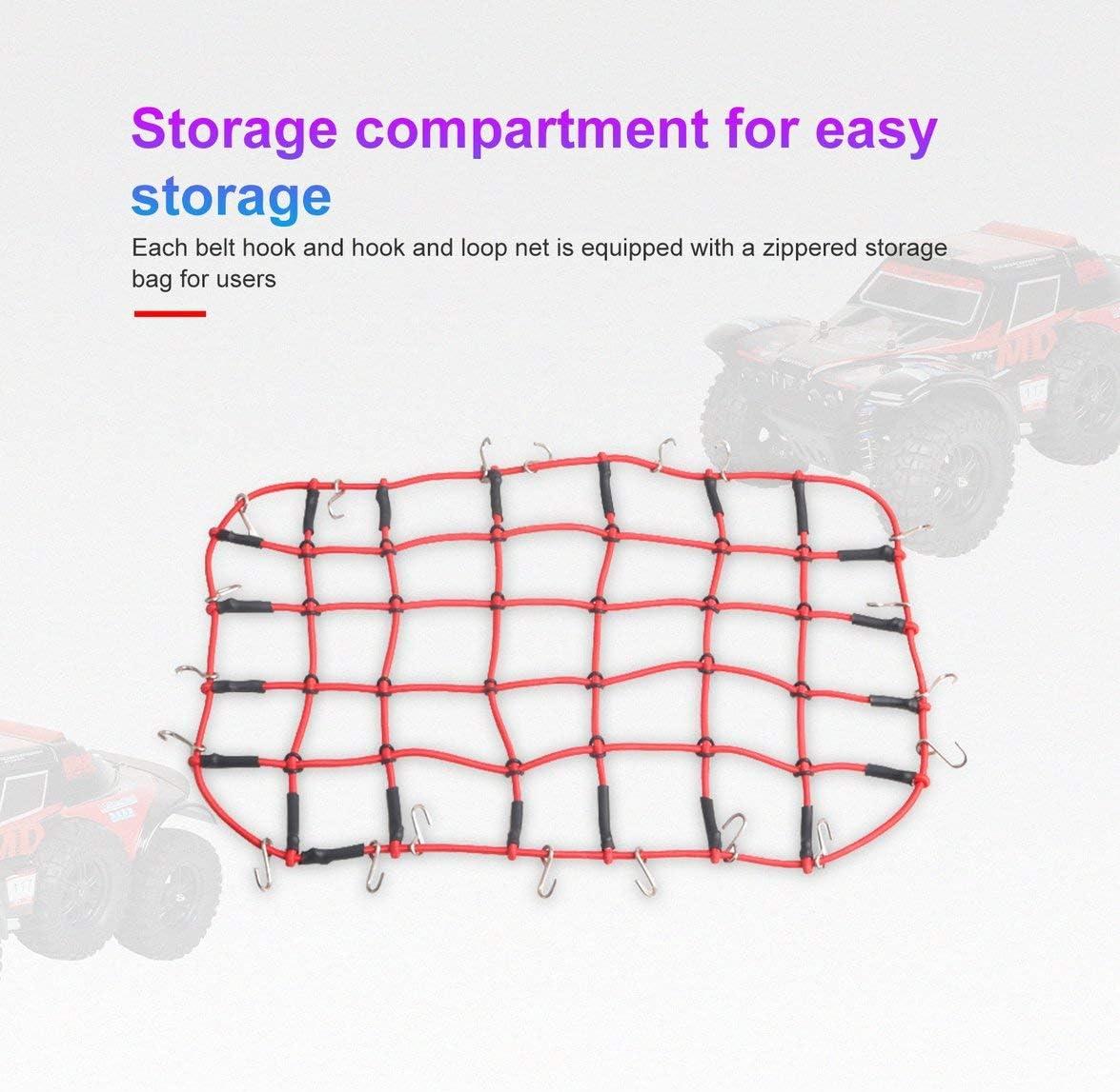 Sylvialuca Gep/äcknetz Mesh Storage Gep/äck Fracht Gep/äck Dachgep/äcktr/äger Net Dekorative Accessoires F/ür 1//10 RC Auto Crawler D90 Traxxas TRX-4