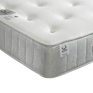 Memory Foam Open Coil Spring Happy Beds Pearl Contour Medium Soft Tension Mattress 5ft