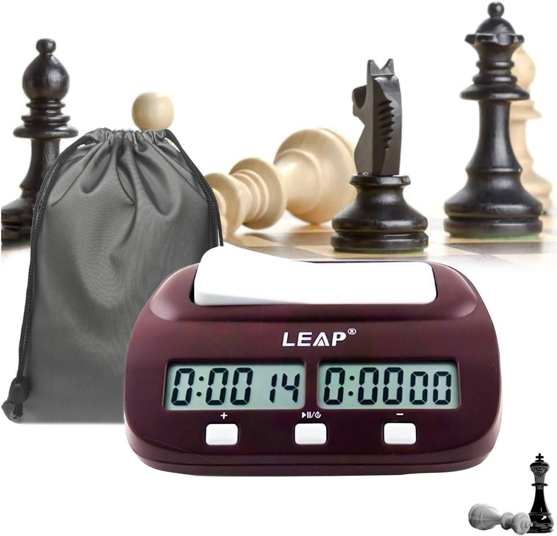 lingye Reloj de ajedrez, Temporizador Profesional de ajedrez ...